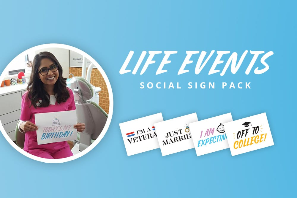 Free download: life events social sign pack