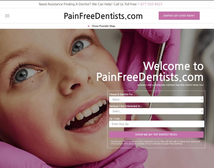 Painfreedentists. Com dentalvibe's pain free directory!