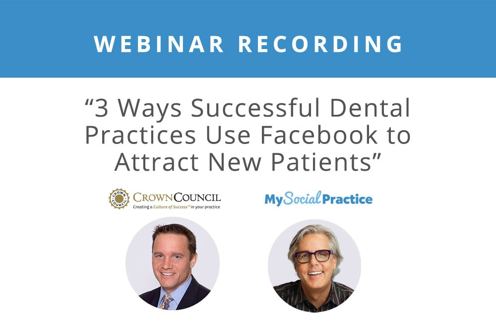 Free webinar: find new patients with facebook